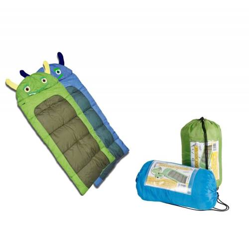 dynamic24 Kinderschlafsack, Junior Kinder Schlafsack Monster Decke 170cm Kinderschlafsack Camping Outdoor