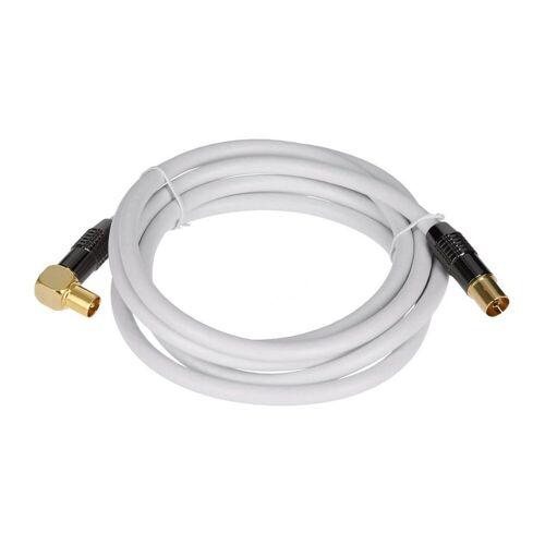 GEORGES »Antennenkabel weiß 90° gewinkelt (sbr)« SAT-Kabel