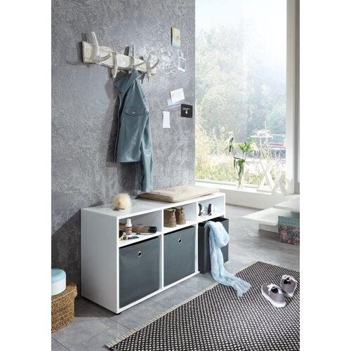 BMG Möbel Sitzbank »Marbella Sitzbank«, Sitzbank mit 3 Faltboxen
