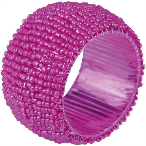Bestlivings Serviettenring, Glasperlen, (1-tlg), Serviettenring, Handarbeit, Glasperlenring, Pink