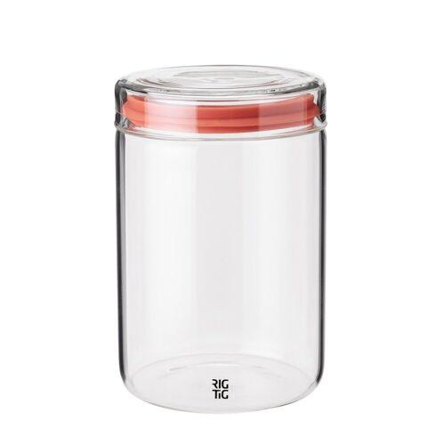 Stelton Aufbewahrungsbox »RIG-TIG Aufbewahrungsglas STORE-IT 1.0l«, Glas, Silikon