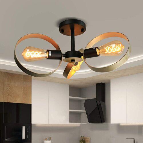 ZMH Deckenleuchte »gold 3-Ring Industrial Wohnzimmer E27 aus Metall«