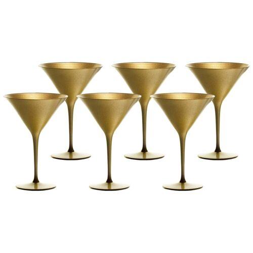 Stölzle Gläser-Set »ELEMENTS Cocktailschale Gold 6er Set« (6-tlg)