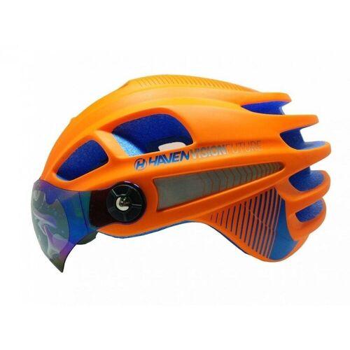 HAVEN Fahrradhelm »VISION FUTURE, Fahrrad Helm aufklappbares Visier«, Orange