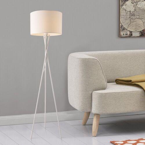 lux.pro Stehlampe, »Grenoble« Stehleuchte Design Dreifuß Lampe weiß
