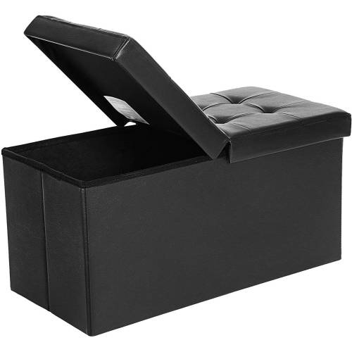 SONGMICS Sitzbank »LSF45WT LSF45BK«, 80 L Sitzbank Sitzhocker, schwarz, schwarz