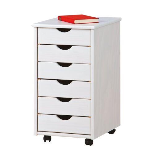ebuy24 Kommode »Simra Kommode Rollcontainer, 6 Schubladen, weiss .«