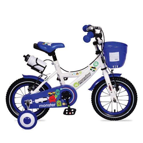 Byox Kinderfahrrad »Kinderfahrrad 12 Zoll 1281«, 1 Gang 1 Gang, keine, blau mit Stützräder, Frontkorb, Getränkehalter