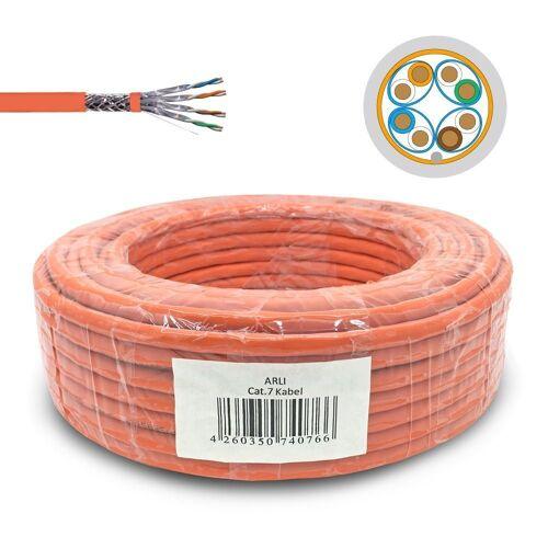 ARLI »Cat7 Verlegekabel Netzwerkkabel Simplex Kabel« Computer-Kabel, (2500 cm), 25m Cat7 Netzwerk Kabel, Installationskabel, Ethernet LAN 23AWG/1 Kabel