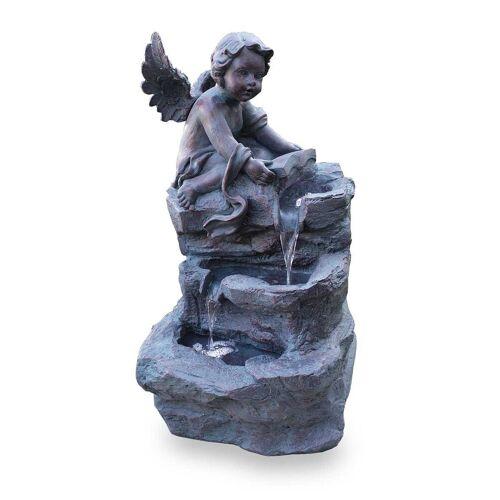Kiom Dekoobjekt »Gartenbrunnen Figurenbrunnen FoAngelo Led 74 cm«