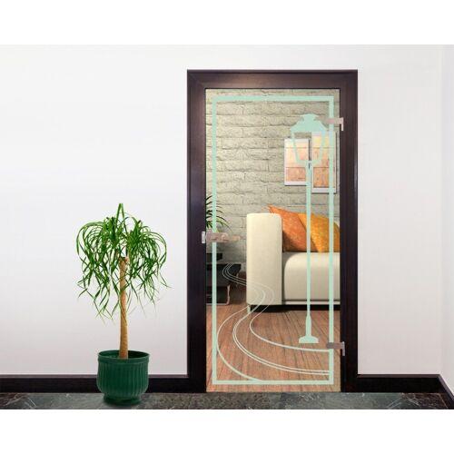 Bilderdepot24 Deco-Panel, Glasdekor Tattoo Türfolie - Laterne II - 90 x 200 cm