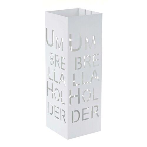 MCW Schirmständer »-C78« (1 Stück), Zwei Haken für Taschenschirme, quadratisch, weiß
