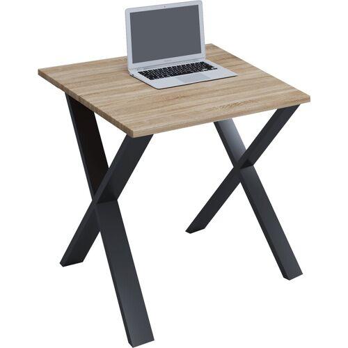 VCM Schreibtisch, B. 80 x T. 80 cm: Sonoma-Eiche
