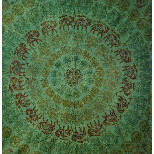 Guru-Shop Tagesdecke »Bestickte indische Tagesdecke, besticktes..«, , grün