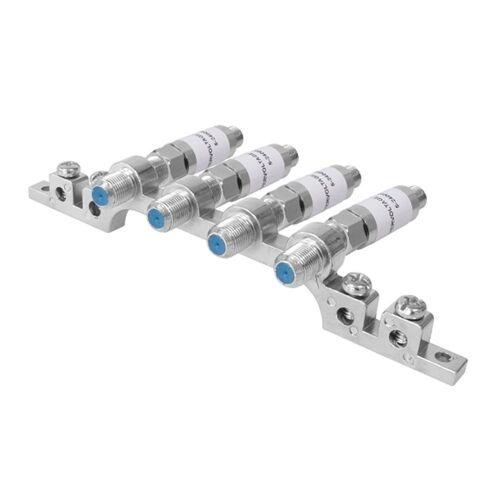ARLI »Sat Überspannungsschutz Blitzschutz + Erdungsblock Blitzschutz Erdung Schiene Block Schutz Set« Kabelzubehör, (4-fach / 4 fach)