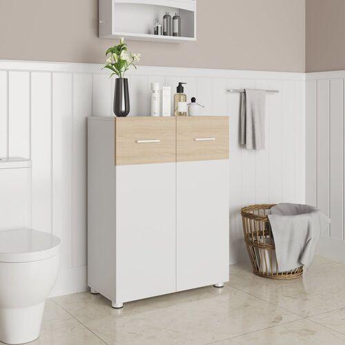 VASAGLE Sideboard »BBK43WN«, Badezimmerschrank, Sideboard mit Doppeltür, weiß