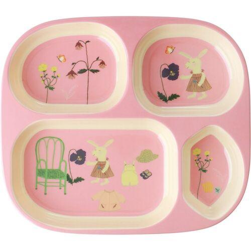 rice Teller »Esslernteller Häschen, rosa«, rosa