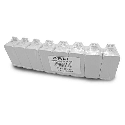 ARLI »Abzweigdose 90 x 43 x 40 mm Industriegehäuse Leergehäuse Verteilerkasten aufputz Dose« Steckdosenverteiler