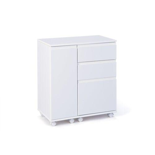 ebuy24 Schreibtisch »Lapo Schreibtisch ausziehbare Tischplatte, 3 Schub«