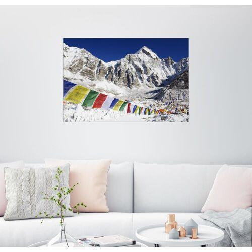 Posterlounge Wandbild, Premium-Poster Gebetsfahnen am Basislager des Mt. Everest