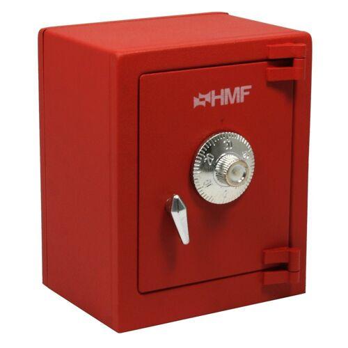 HMF Spardose »306«, Minitresor mit Zahlenschloss, 13,5 x 11 x 8, rot