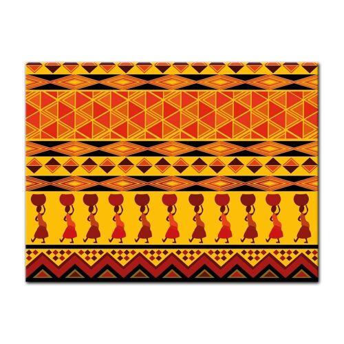 Bilderdepot24 Leinwandbild, Leinwandbild - Afrika Design