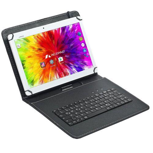 """Acepad A12G Tablet (10.1"""", 64 GB, Android, 4G (LTE), Dual-SIM, 10"""", WiFi, mit Tastaturtasche), Weiß mit Tastaturtasche"""