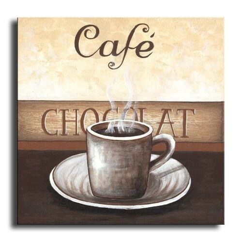 Bilderdepot24 Leinwandbild, Wandbild - Kaffee M3 - Leinwandbild 30x30 cm M06