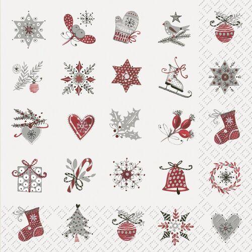 stewo Papierserviette »Winter Motive«, 33 cm x 33 cm