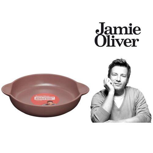 JAMIE OLIVER Auflaufform »Auflaufform Gratinform Ofenform Backform Steingut Braun Ø 23 cm«, Steingut