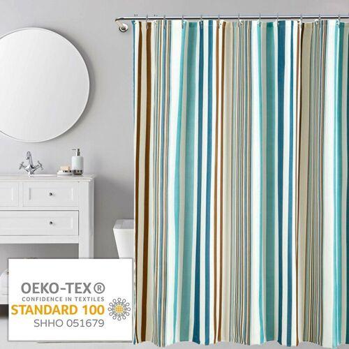 i@home Duschvorhang »mehrere Stile Wannenvorhang Badvorhang Duschabtrennung Badezimmer Vorhänge« Breite 180 cm, Mit Ringe, Streifen