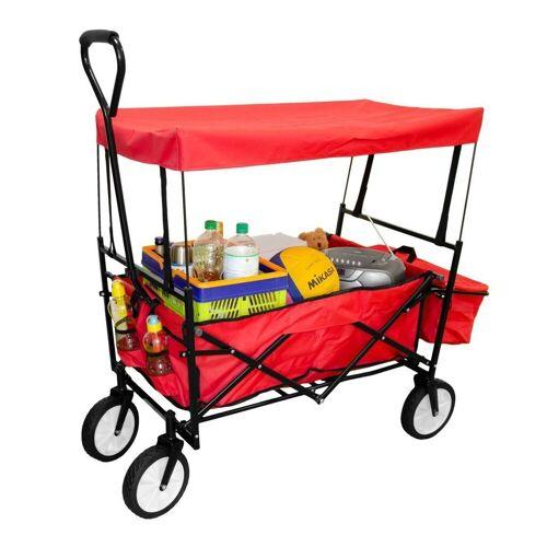GEORGES Bollerwagen »Faltwagen Bollerwagen faltbarer Handwagenmit Dach (Farbe: Rot)«