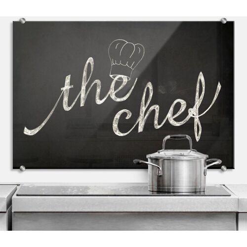 Herd-Abdeckplatte »Spritzschutz Küchen Chef Koch«, Glas, (1 tlg)