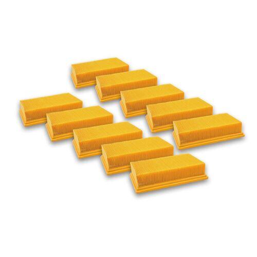 AccuCell Staubsaugerrohr 10x Staubsaugerfilter für Staubsauger wie Dewalt D