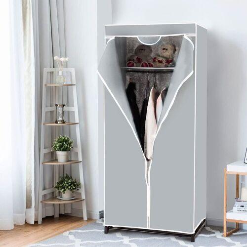 COSTWAY Kleiderschrank »Faltschrank Textilschrank Stoffkleiderschrank«, grau