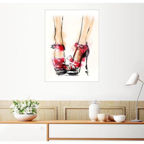 Posterlounge Wandbild, Rote Highheels