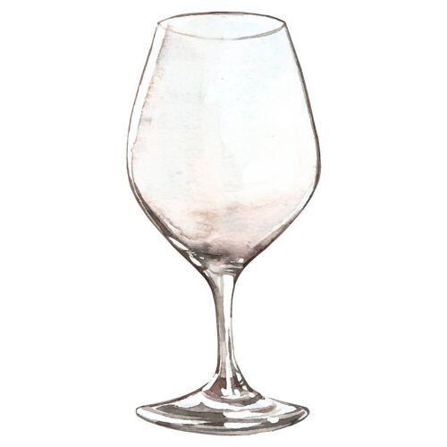 dekodino Wandtattoo »Aquarell Weinglas für Weintrinker« (1 Stück)