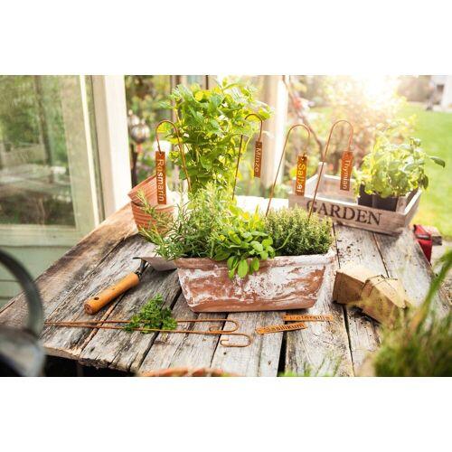 """HomeLiving Gartenstecker »Pflanzen-Stecker """"Kräuter"""", 6er Set Grünpflanze Blüte Kunst Topf Tisch Deko Raum«"""