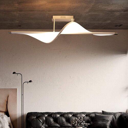 ZMH LED Deckenleuchte »24W 3000K Warmweiße Wohnzimmerlampe aus Metall und Stoff Rahmen«