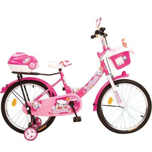Byox Kinderfahrrad »Kinderfahrrad 20 Zoll 2082«, 1 Gang 1 Gang, keine, Pink, Stützräder, zwei Gepäckkörbe, Klingel