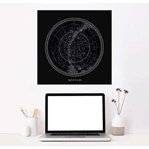 Posterlounge Wandbild, Premium-Poster Sternenkarte