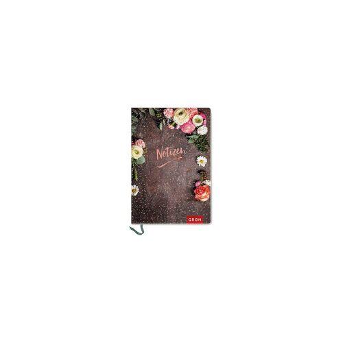 """groh Verlag Notizbuch »Premium Notizbuch """"Notizen"""" DIN A6 mit Blumen«"""