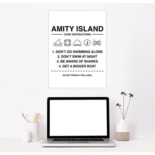 Posterlounge Wandbild, Amity Island - Pflegeanleitung