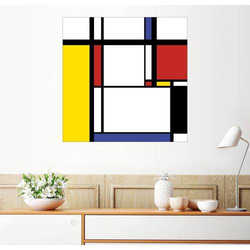 Posterlounge Wandbild, Im Stil von Mondrian