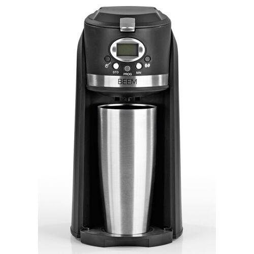 BEEM Filterkaffeemaschine, 0.4l Kaffeekanne, GRIND & BREW 2 GO Single-Kaffeemaschine