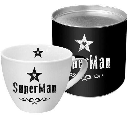 PPD Tasse »SuperMan Black 450 ml«