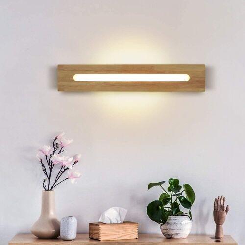 ZMH Wandleuchte »Holz 45 CM 11W Warmweiße für Flur Treppe Innenbeleuchtung«