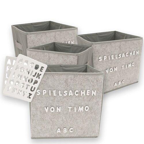 HTI-Line Aufbewahrungsbox »Aufbewahrungsbox Paloma 4er Set mit Buchstaben«, Aufbewahrungsbox
