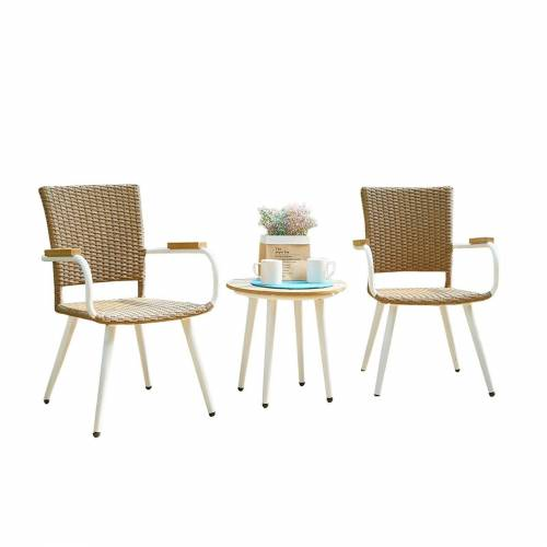 HTI-Line Sitzgruppe »Terrassenmöbel Sevilla«, (2x Stuhl, 1x Tisch, 3-tlg), Terrassenmöbel