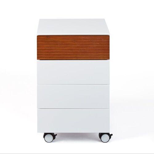 ebuy24 Kommode »Scime Kommode Rollcontainer, 4 Schubladen, weiss.«